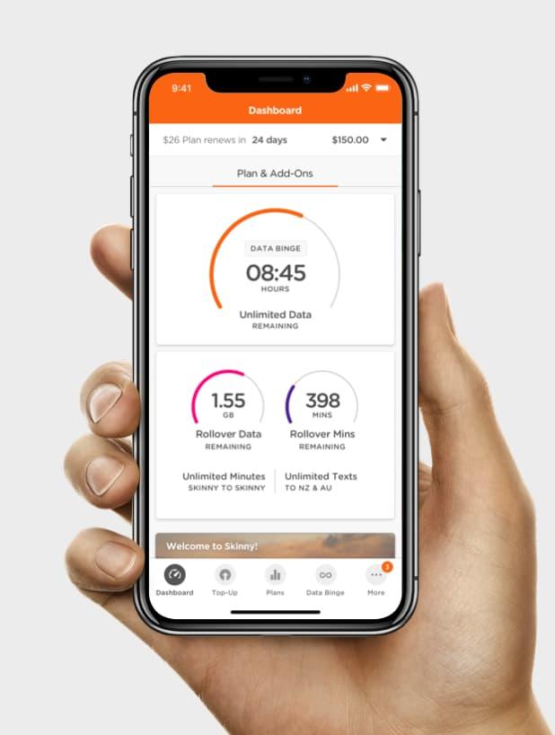 We do mobile apps, like Skinny's
